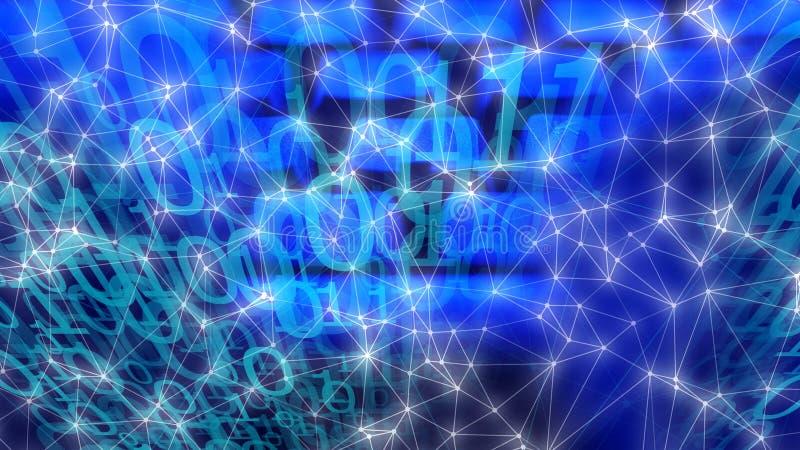 Machine het leren concept, grote gegevensbeveiliging stock afbeeldingen