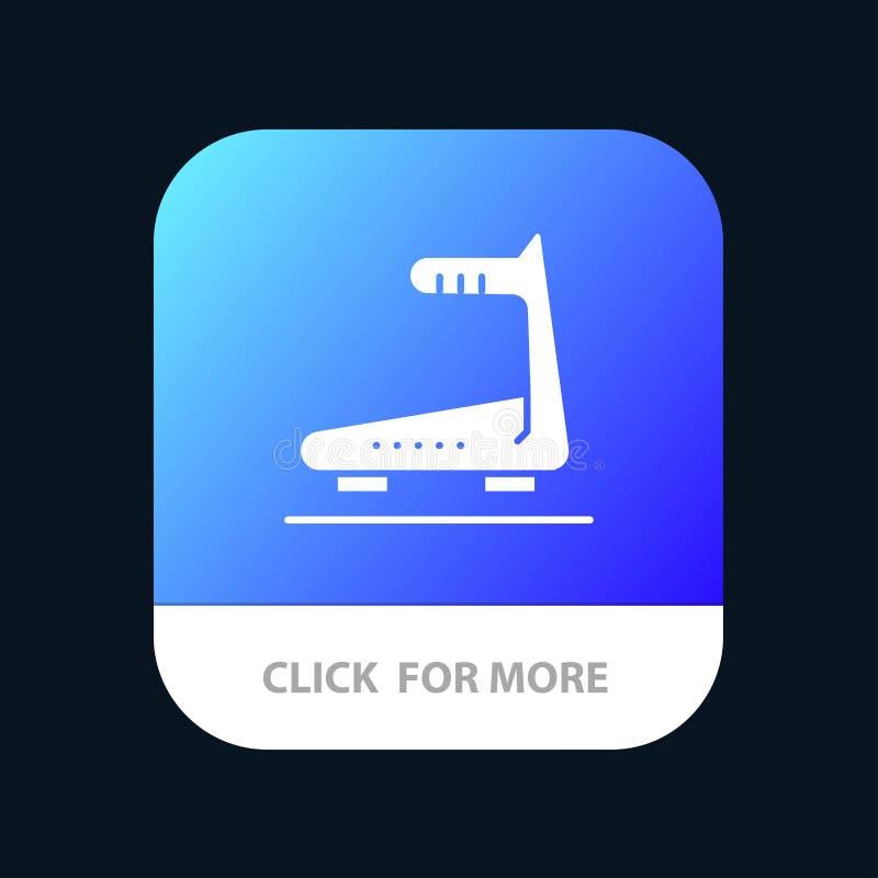 Machine, het Lopen, Spoor, de Knoop van de Tredmolenmobiele toepassing Android en IOS Glyph Versie vector illustratie