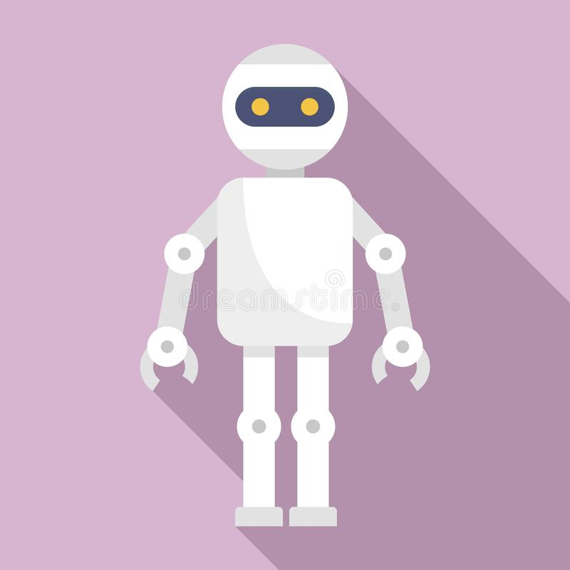 Machine humanoid icon, flat style royalty free illustration