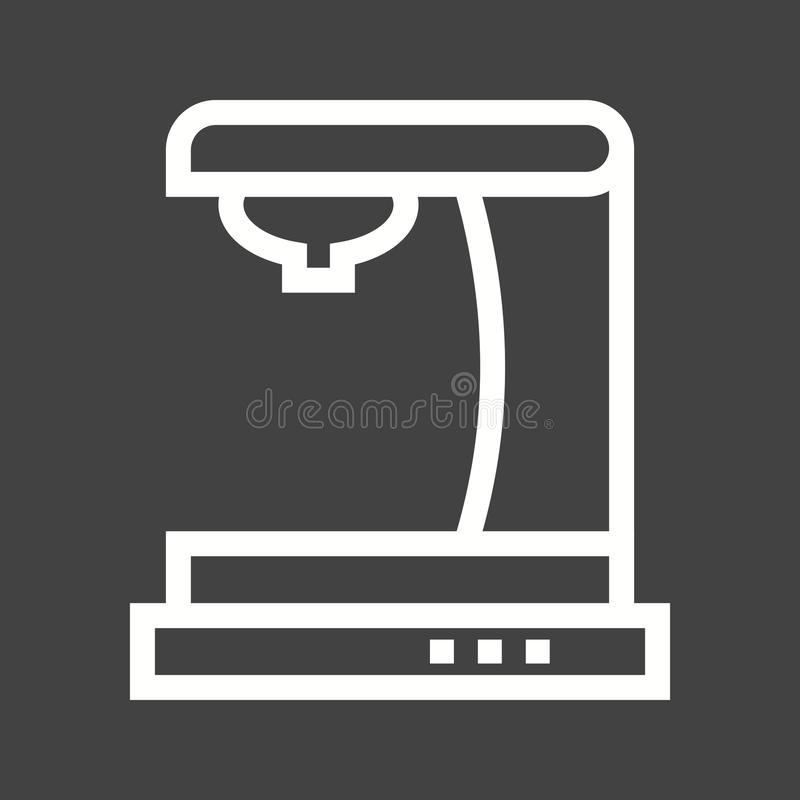 Machine I de café illustration stock