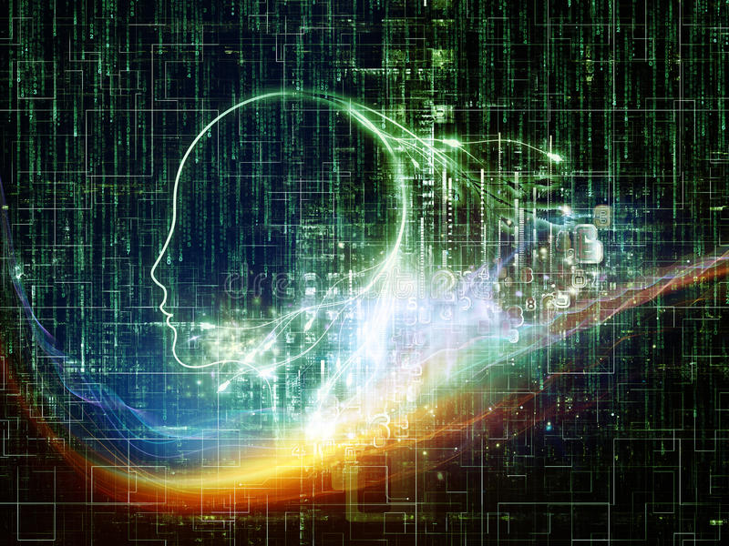 Machine Intelligence vector illustration