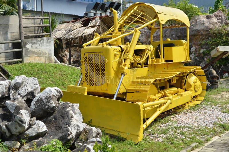 Machine in Kinta Tin Mining Museum in Kampar, Maleisië stock foto