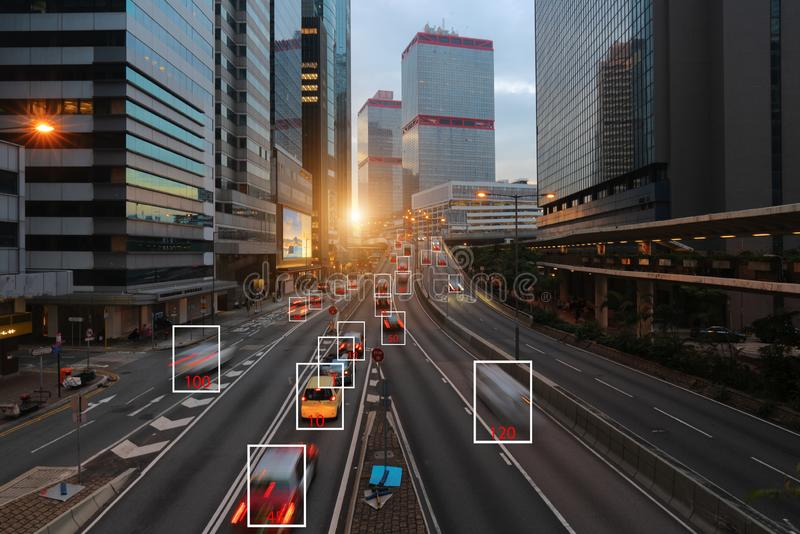 Machine Learning and AI to Identify Objects, Image recognition, Suspect Tracking, Speed Limit Radar stock photos