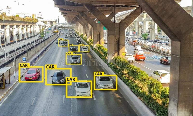 Machine Learning and AI to Identify Objects technology, Artificial intelligence concept. Image processing, royalty free stock photo