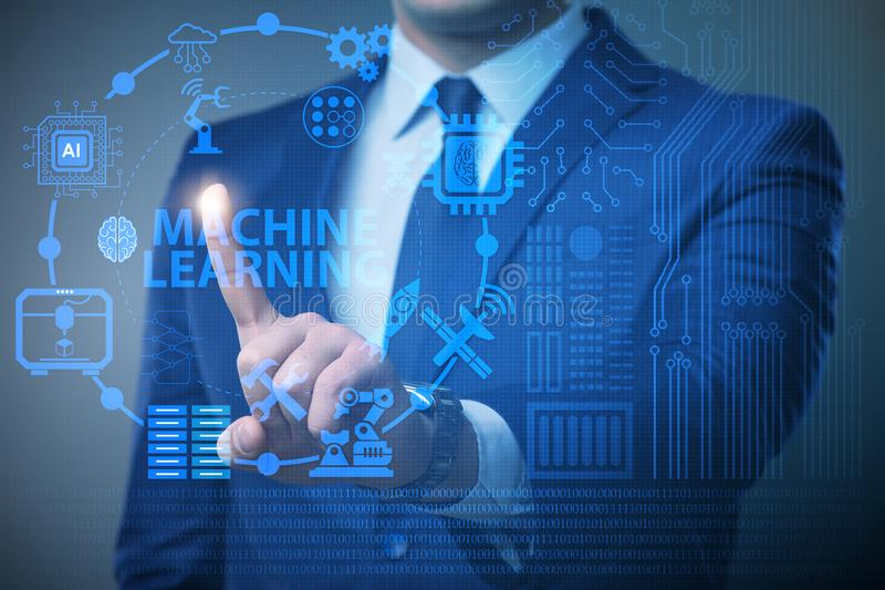 The machine learning computing concept of modern it technology. Machine learning computing concept of modern IT technology royalty free stock photo