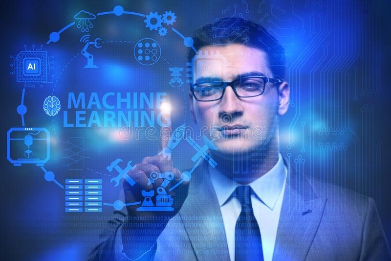 The machine learning computing concept of modern it technology royalty free stock images