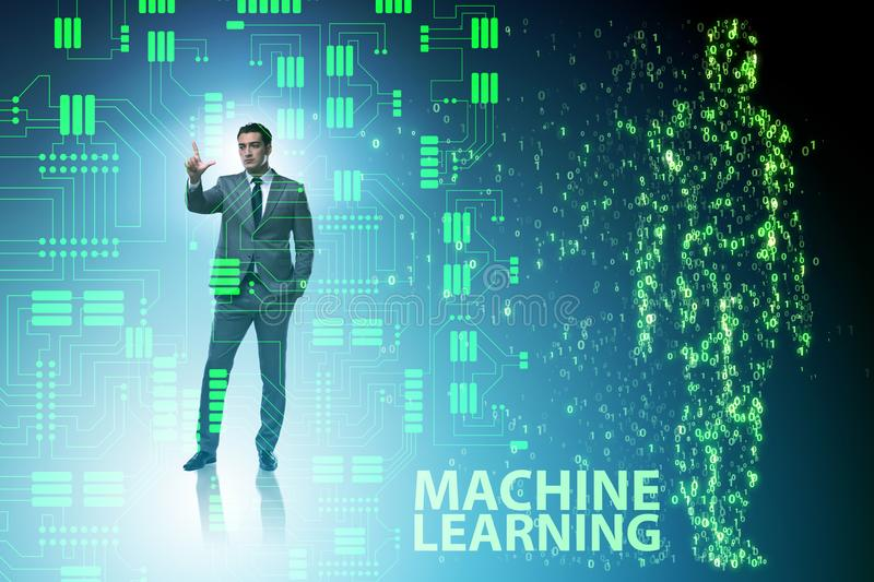 The machine learning concept as modern technology. Machine learning concept as modern technology royalty free stock images