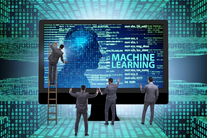 The machine learning concept as modern technology. Machine learning concept as modern technology royalty free stock photos