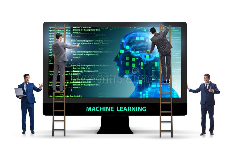 The machine learning concept as modern technology. Machine learning concept as modern technology royalty free stock photography