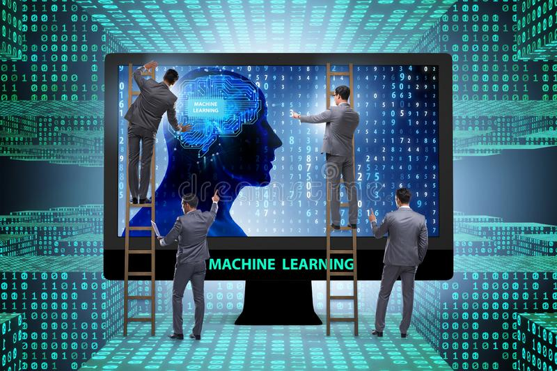 The machine learning concept as modern technology. Machine learning concept as modern technology stock photography