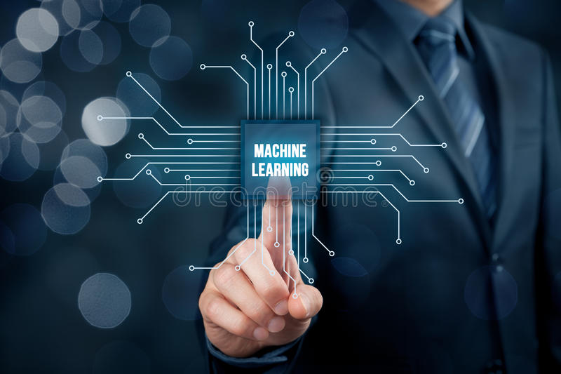 Machine learning concept stock photo