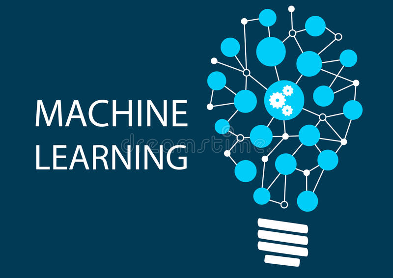 Machine learning concept royalty free illustration