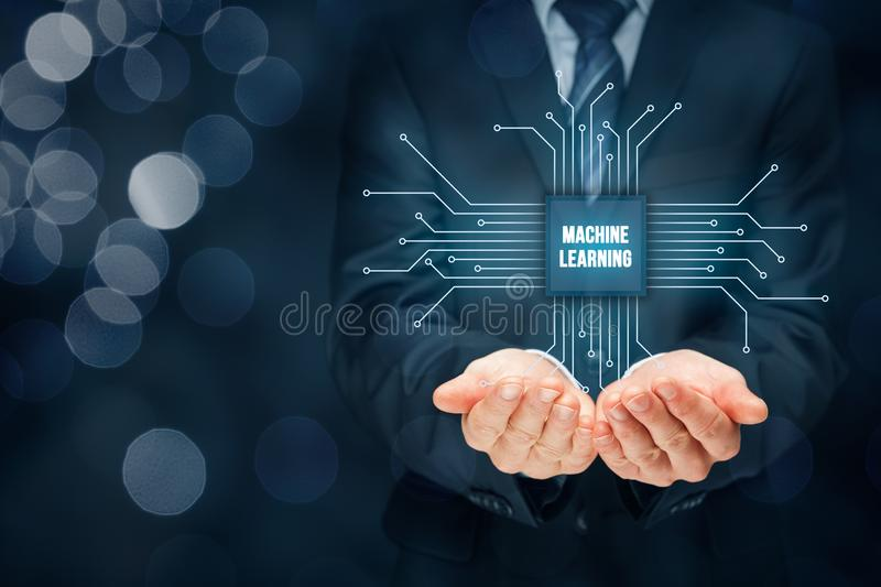 Machine learning concept royalty free stock images