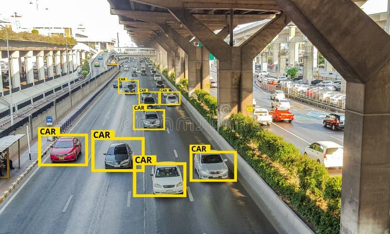Machine Learning en AI om de technologie van Objecten, het concept van Kunstmatige intelligentie te identificeren Beeldverwerking royalty-vrije stock foto