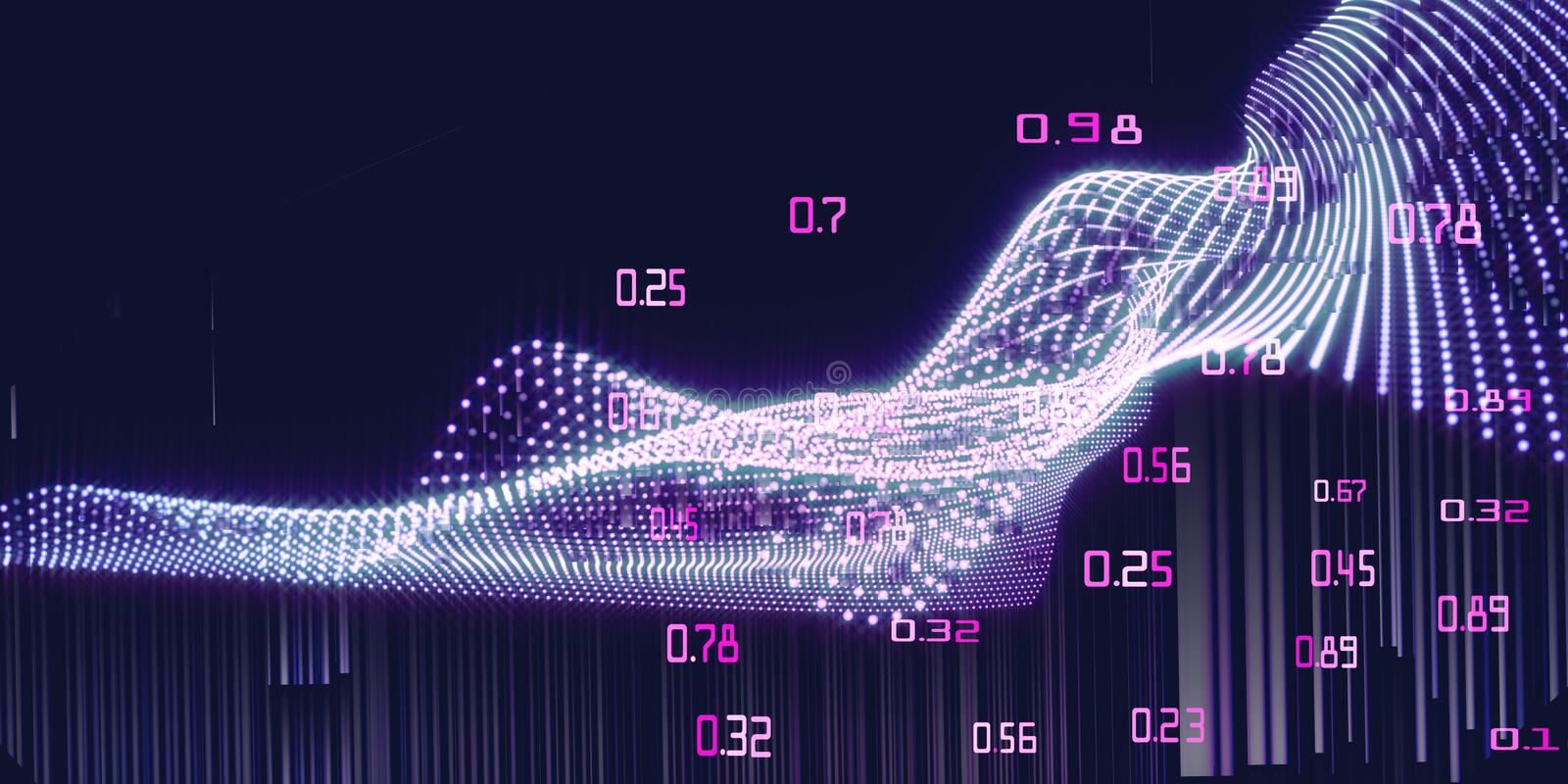Machine learning flow data.  Abstract analysis infographics background. Big data stock photos