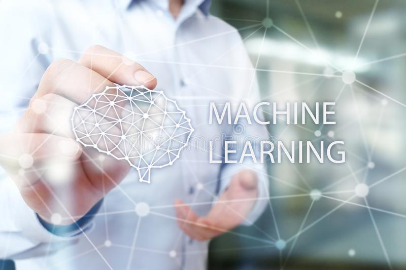 Machine learning technology and artificial intelligence in modern manufacturing. Machine learning technology and artificial intelligence in modern manufacturing stock photography