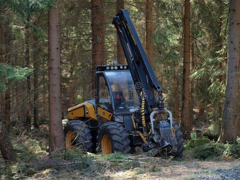 Download Machine Logging, South Bohemia Stock Image - Image: 40051263