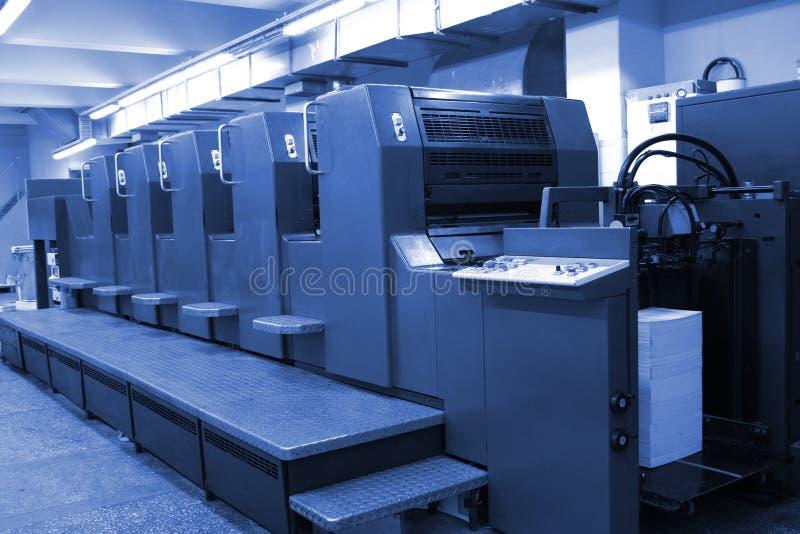 machine offset royaltyfria bilder