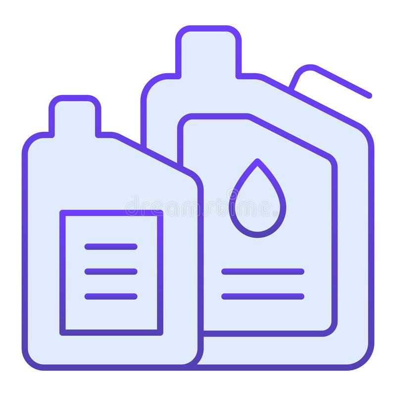 Machine oil flat icon. Engine oil blue icons in trendy flat style. Car lubricant gradient style design, designed for web. And app. Eps 10 stock illustration