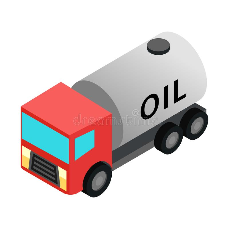 Machine oil isometric 3d icon. Isolated on white background stock illustration