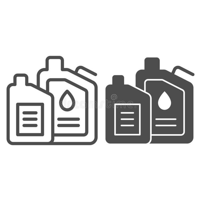 Machine oil line and glyph icon. Engine oil vector illustration isolated on white. Car lubricant outline style design. Designed for web and app. Eps 10 vector illustration