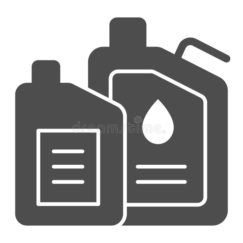 Machine oil solid icon. Engine oil vector illustration isolated on white. Car lubricant glyph style design, designed for. Web and app. Eps 10 stock illustration