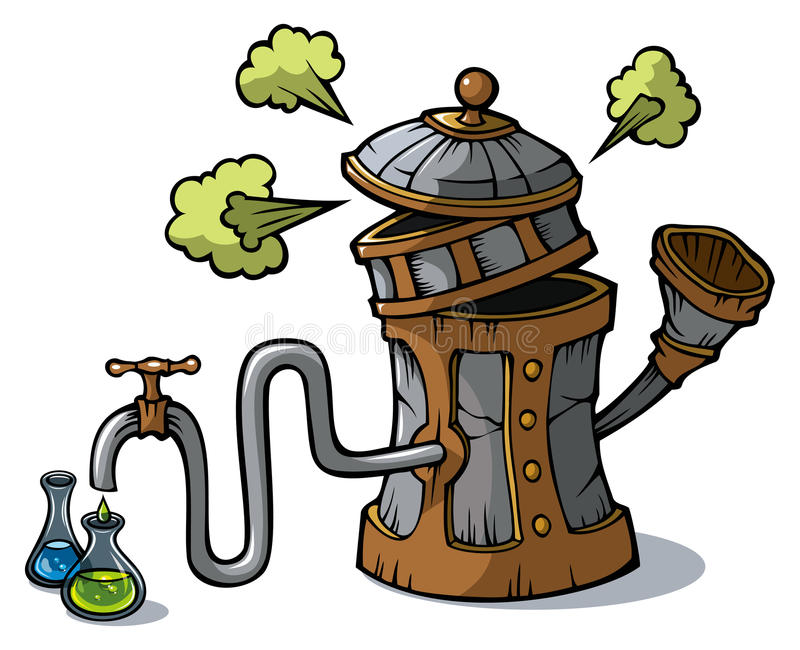 Machine de distillation illustration libre de droits