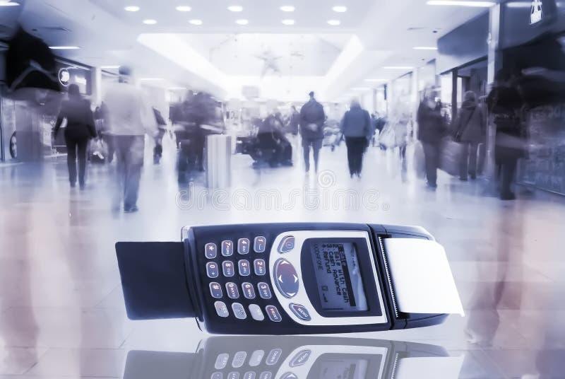 Machine par la carte de crédit image stock