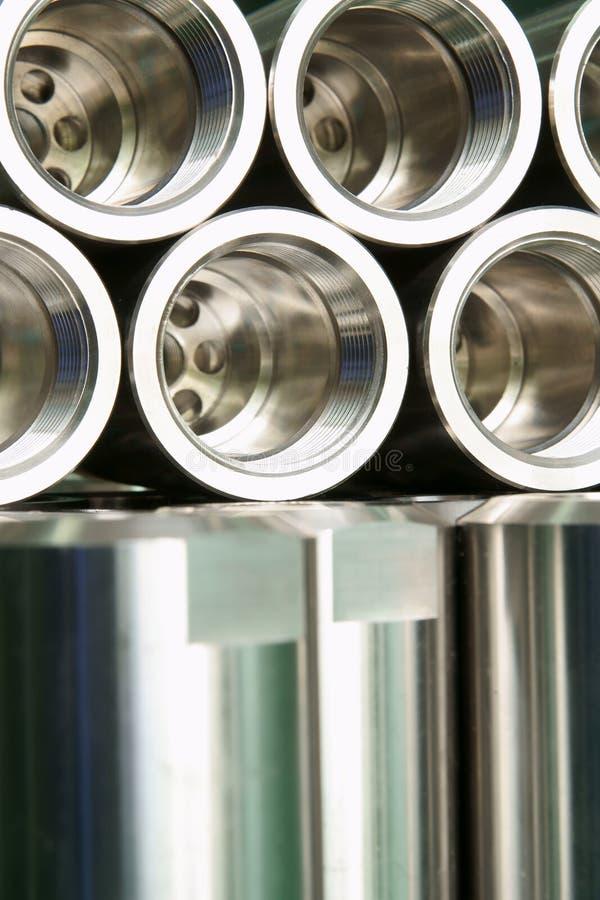 Machine parts. Were made by CNC lathe machine royalty free stock photo