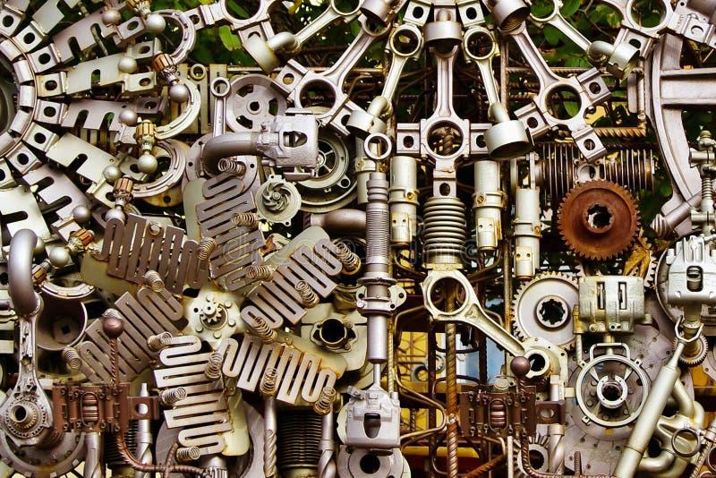 Machine parts background stock photography