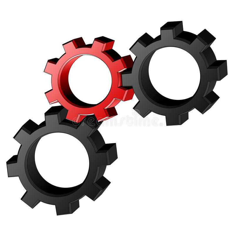 Download Machine pieces stock vector. Image of machine, black - 22936308