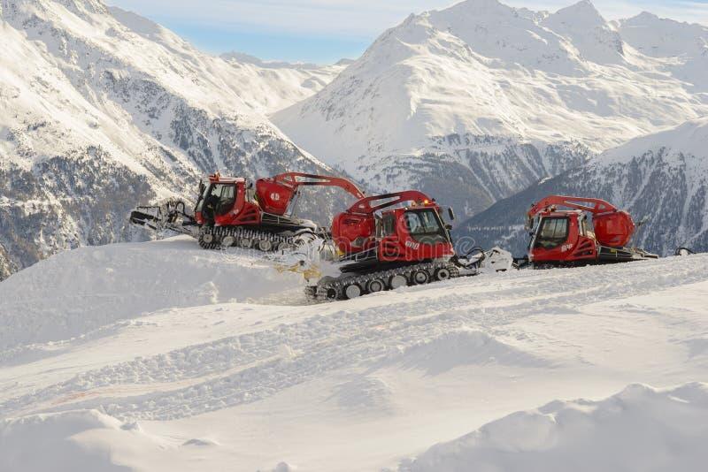 Machine pour des préparations de neige images libres de droits