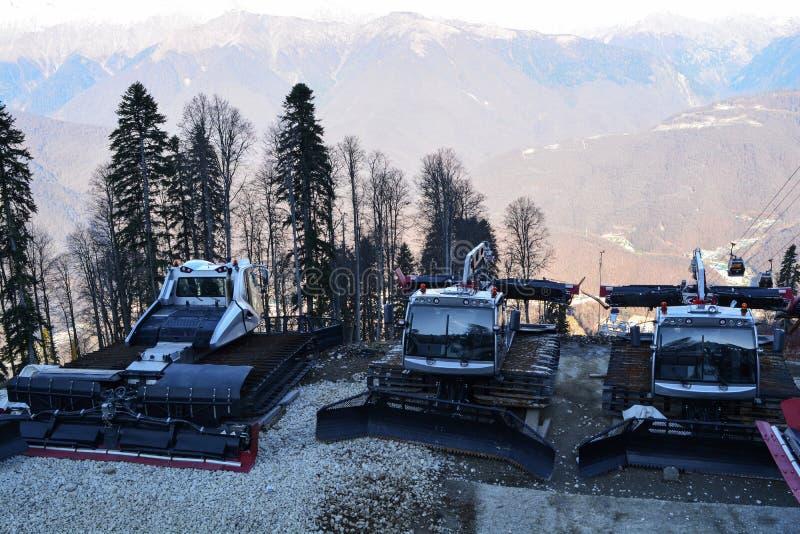 Machine pour des skieurs photographie stock