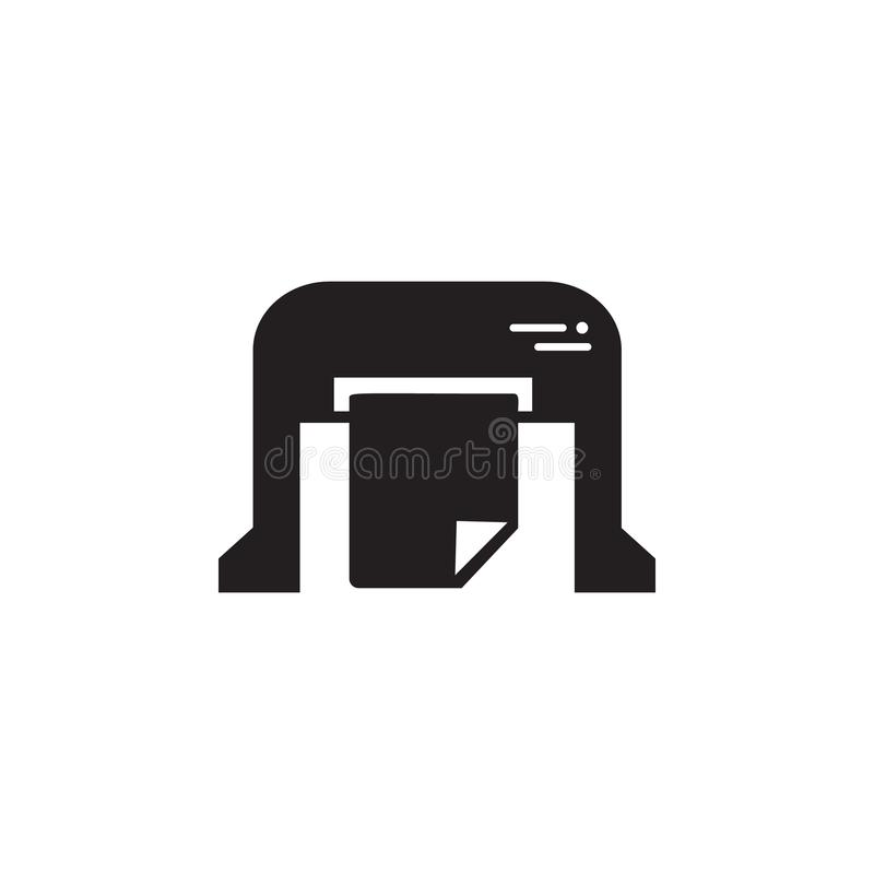 machine pour imprimer l'icône de journaux Élément d'illustration de maison d'impression Icône de la meilleure qualité de concepti illustration de vecteur