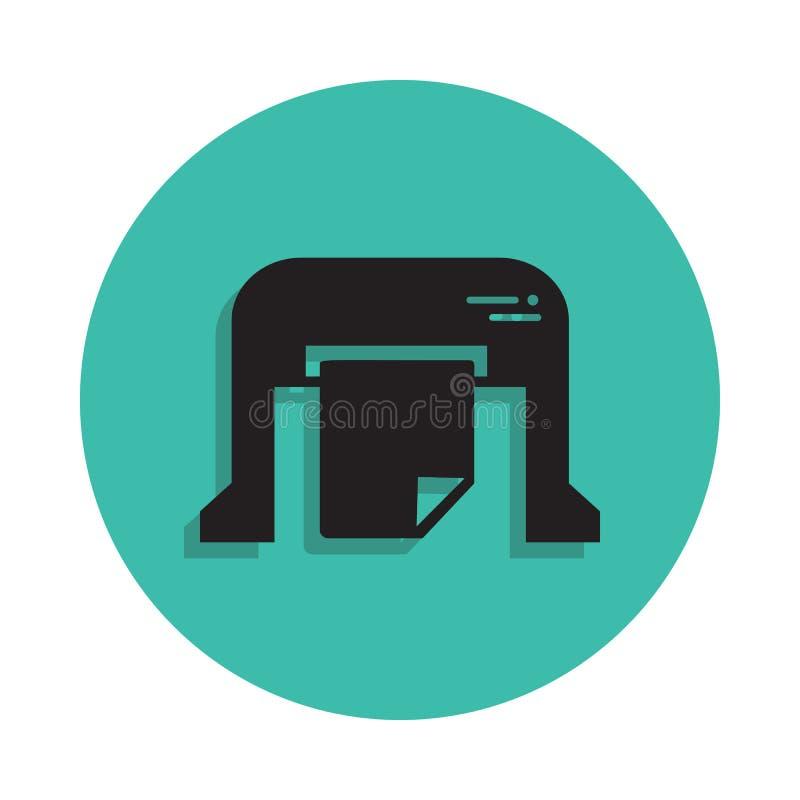 machine pour imprimer l'icône de journaux Élément de maison d'impression pour le concept et l'icône mobiles d'apps de Web Ligne m illustration de vecteur