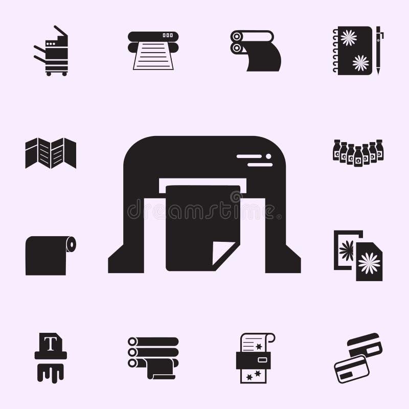 machine pour imprimer l'ic?ne de journaux Ensemble universel d'ic?nes de maison d'impression pour le Web et le mobile illustration stock