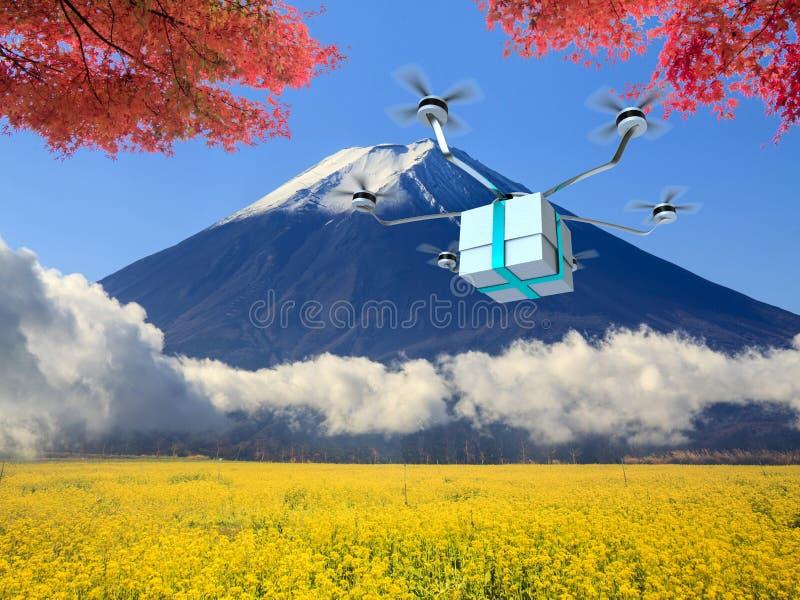 machine rapide de la livraison de 4 axes avec la couleur gentille de fond photographie stock libre de droits