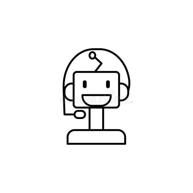 Machine robot smart concept line icon. Simple element illustration. Machine robot smart concept outline symbol design from artific stock illustration