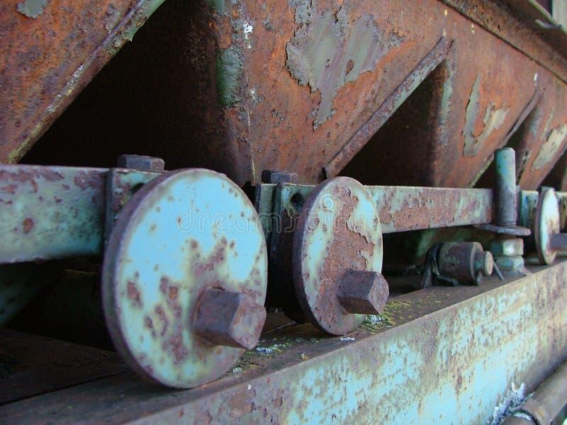 Machine rouillée en métal images libres de droits