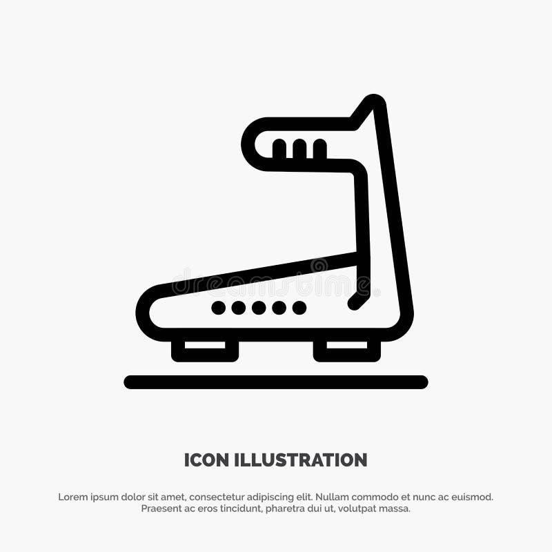 Machine, Running, Track, Treadmill Line Icon Vector royalty free illustration