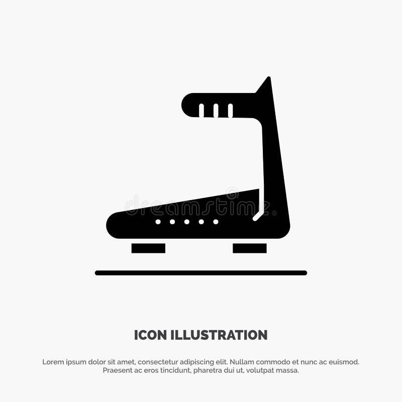 Machine, Running, Track, Treadmill solid Glyph Icon vector vector illustration
