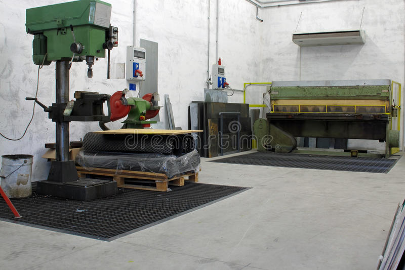 Download Machine Shop With CNC Lathe Drill Stock Photo - Image: 26792854