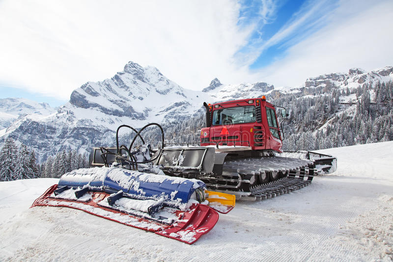 Download Machine For Snow Preparation Stock Image - Image: 18213157
