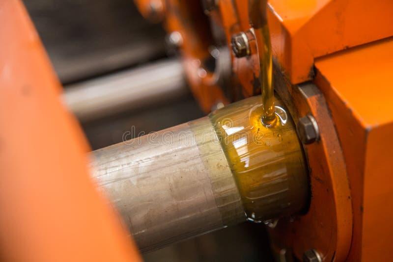 Machine van de buis de versmallende boiler stock fotografie