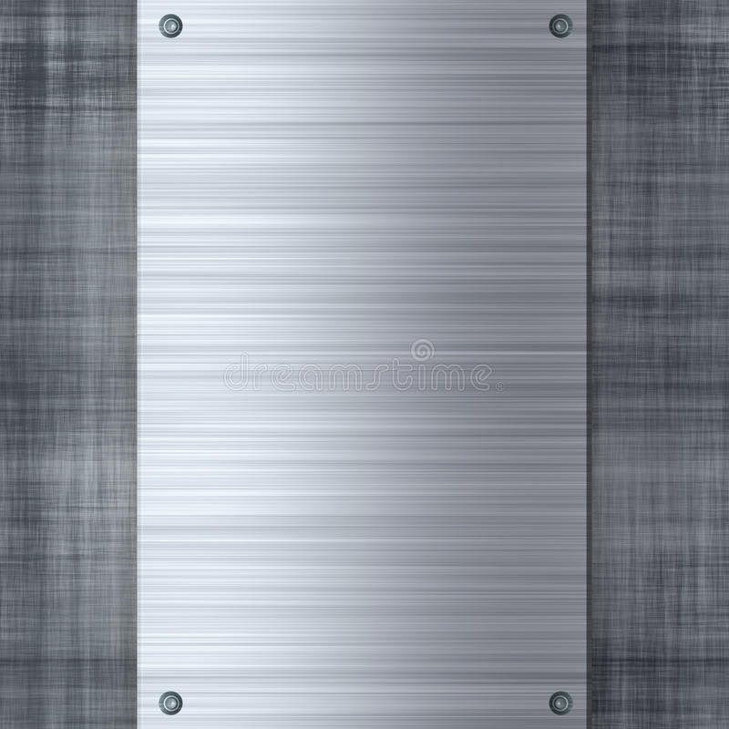 Machined Metal Layout. Brushed or machined metal template with rivets and plenty of copyspace. Makes a great layout or business card background vector illustration