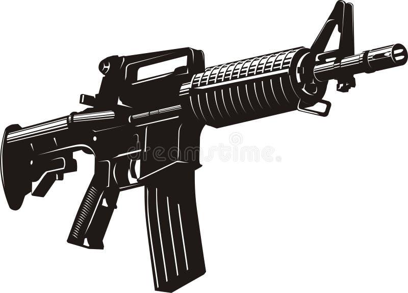 Machinegeweer royalty-vrije illustratie
