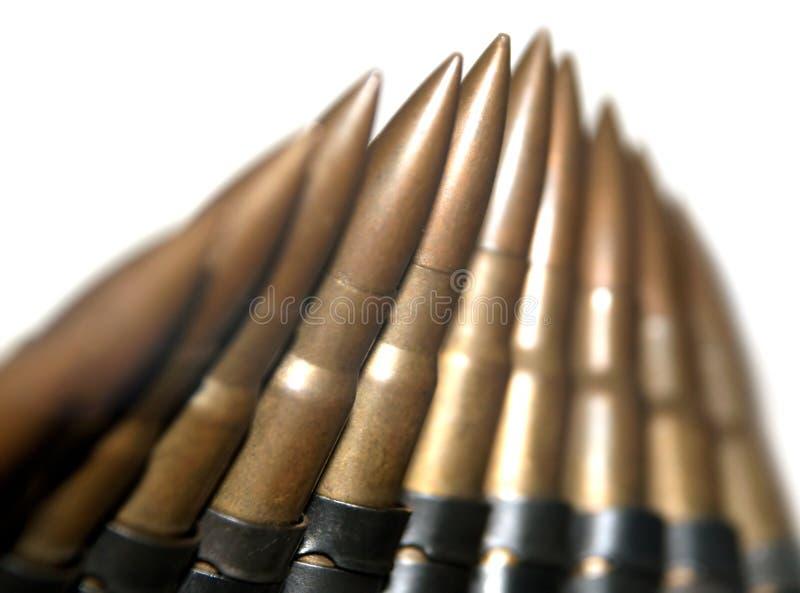 Machinegeweer munitie royalty-vrije stock foto's