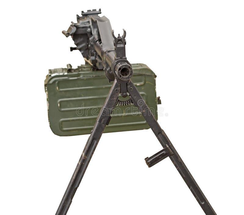 Machinegeweer op wit stock foto