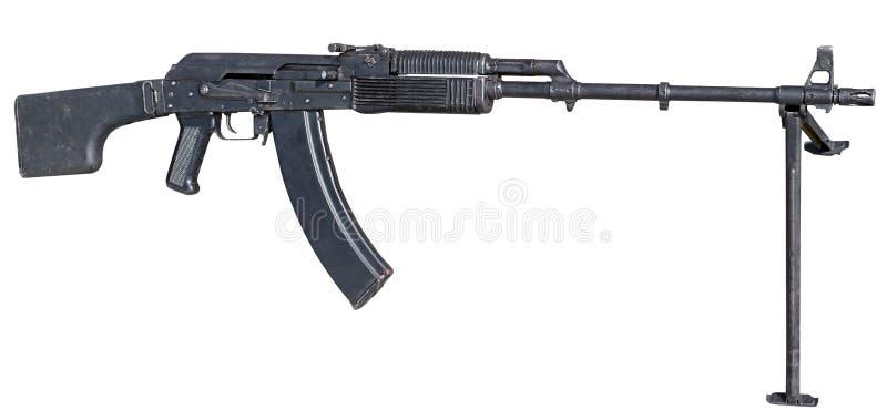Machinegeweer op wit royalty-vrije stock afbeeldingen