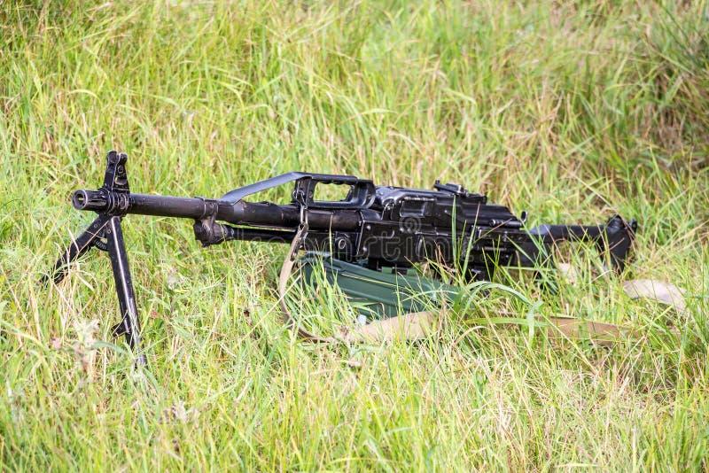 Machinegeweer Pecheneg stock afbeelding